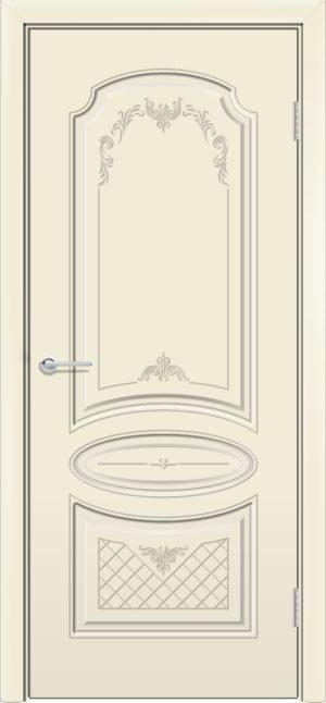 Межкомнатная дверь эмаль Б 22 бежевая 3