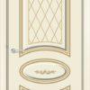 Межкомнатная дверь эмаль Б 14 белая патина золото 2