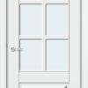 Межкомнатная дверь эмаль Б 19 белоснежная 2