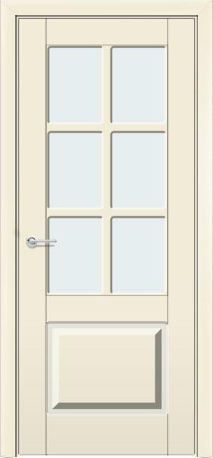Межкомнатная дверь эмаль Б 19 бежевая патина серебро 3