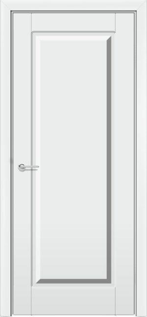 Межкомнатная дверь эмаль Б 18 белоснежная патина серебро 3