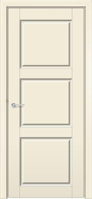 Межкомнатная дверь эмаль Б 25 бежевая патина золото 3