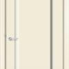 Межкомнатная дверь эмаль Б 18 бежевая патина серебро 1