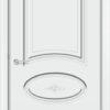 Межкомнатная дверь эмаль Б 15 белоснежная патина серебро 2