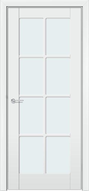 Межкомнатная дверь эмаль Б 10 белоснежная патина серебро 3
