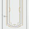 Межкомнатная дверь эмаль Б 13 белая патина золото 1