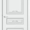 Межкомнатная дверь эмаль Б 21 белая патина золото 2