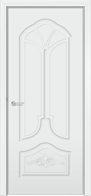 Межкомнатная дверь эмаль Б 21 белая патина золото 3