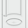 Межкомнатная дверь эмаль Б 21 белая патина золото 1