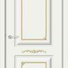 Межкомнатная дверь эмаль Б 15 белоснежная патина золото 2