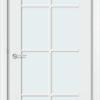 Межкомнатная дверь эмаль Б 4 белая патина серебро 1