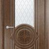 Межкомнатная дверь эмаль Б 4 белая патина серебро 2