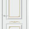 Межкомнатная дверь эмаль Б 9 бежевая патина серебро 2