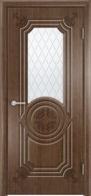 Межкомнатная дверь эмаль Б 7 белоснежная патина золото 3