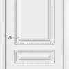 Межкомнатная дверь эмаль Б 12 белая патина серебро 2