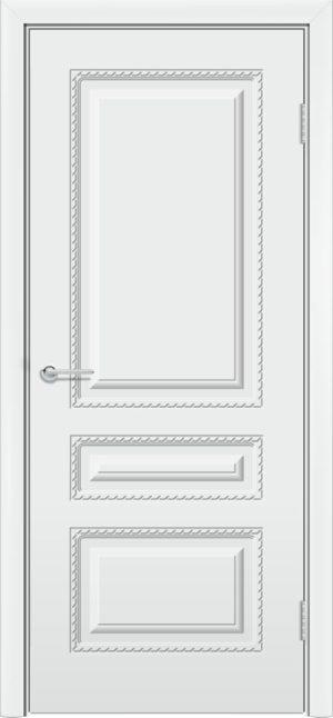 Межкомнатная дверь эмаль Б 2 белоснежная 3
