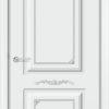 Межкомнатная дверь эмаль Б 16 белая патина серебро 2