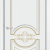Межкомнатная дверь эмаль Б 12 белая патина серебро 1
