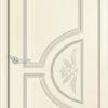 Межкомнатная дверь эмаль Б 19 белая патина золото 1