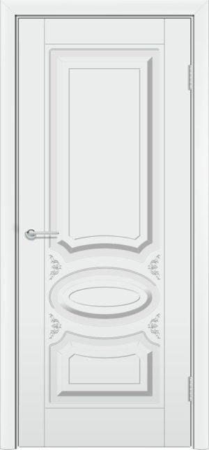 Межкомнатная дверь эмаль Б 1 белоснежная 3