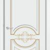 Межкомнатная дверь эмаль Б 4 белая патина золото 1