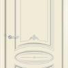 Эмалированная межкомнатная дверь Б 17 белоснежная патина серебро 2