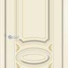 Межкомнатная дверь эмаль Б 5 белая патина серебро 2