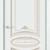 Межкомнатная дверь эмаль Б 6 белая патина серебро 2