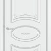 Межкомнатная дверь эмаль Б 6 белая патина серебро 1