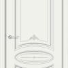 Межкомнатная дверь эмаль Б 9 белоснежная патина серебро 1
