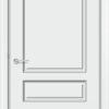 Межкомнатная дверь эмаль Б 6 белоснежная патина серебро 1