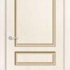 Межкомнатная дверь эмаль Б 11 белоснежная патина серебро 2