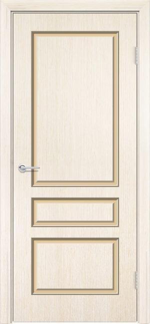 Межкомнатная дверь эмаль Б 14 бежевая патина серебро 3