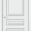 Межкомнатная дверь эмаль Б 4 белоснежная патина серебро 2