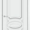 Межкомнатная дверь эмаль Б 11 бежевая патина серебро 2