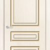 Межкомнатная дверь эмаль Б 1 белоснежная патина серебро 1