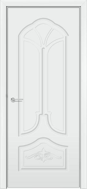 Межкомнатная дверь эмаль Б 21 белоснежная патина золото 3