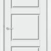Межкомнатная дверь эмаль Б 2 бежевая патина серебро 2