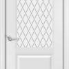 Межкомнатная дверь Б 19 белоснежная патина серебро 2
