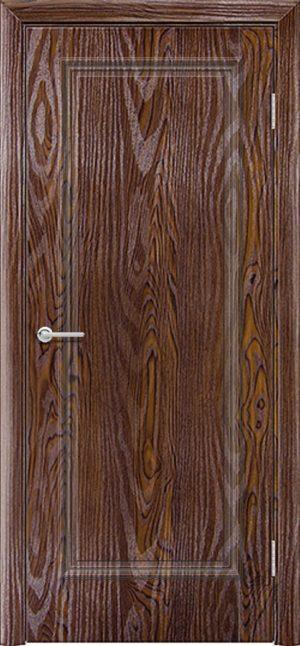 Межкомнатная дверь ПВХ Лира 1 дуб шоколадный 3
