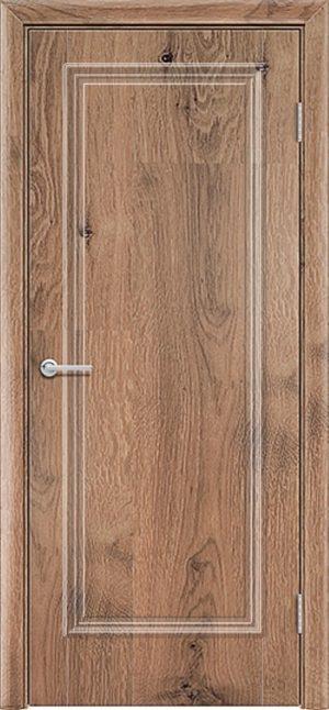 Межкомнатная дверь ПВХ Лира 1 светлый орех 1