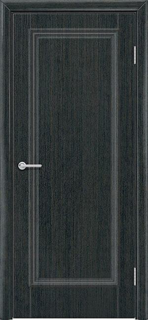 Межкомнатная дверь ПВХ Лира 1 венге патина 2