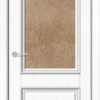 Межкомнатная дверь ПВХ Лира 2 белая патина 1