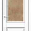 Межкомнатная дверь ПВХ Лира 6 белая патина 2