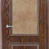 Межкомнатная дверь ПВХ Лира 6 темный орех 1