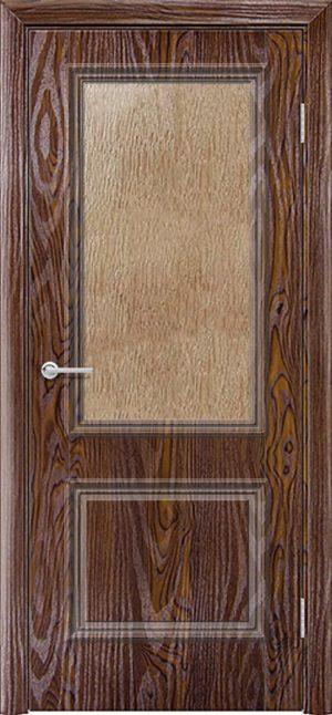 Межкомнатная дверь ПВХ Лира 2 дуб шоколадный 3