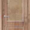 Межкомнатная дверь ПВХ Лира 1 темный орех 1