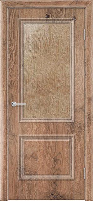 Межкомнатная дверь ПВХ Лира 2 светлый орех 3