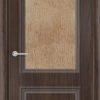 Межкомнатная дверь ПВХ Лира 2 темный орех 2