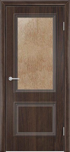 Межкомнатная дверь ПВХ Лира 2 темный орех 3